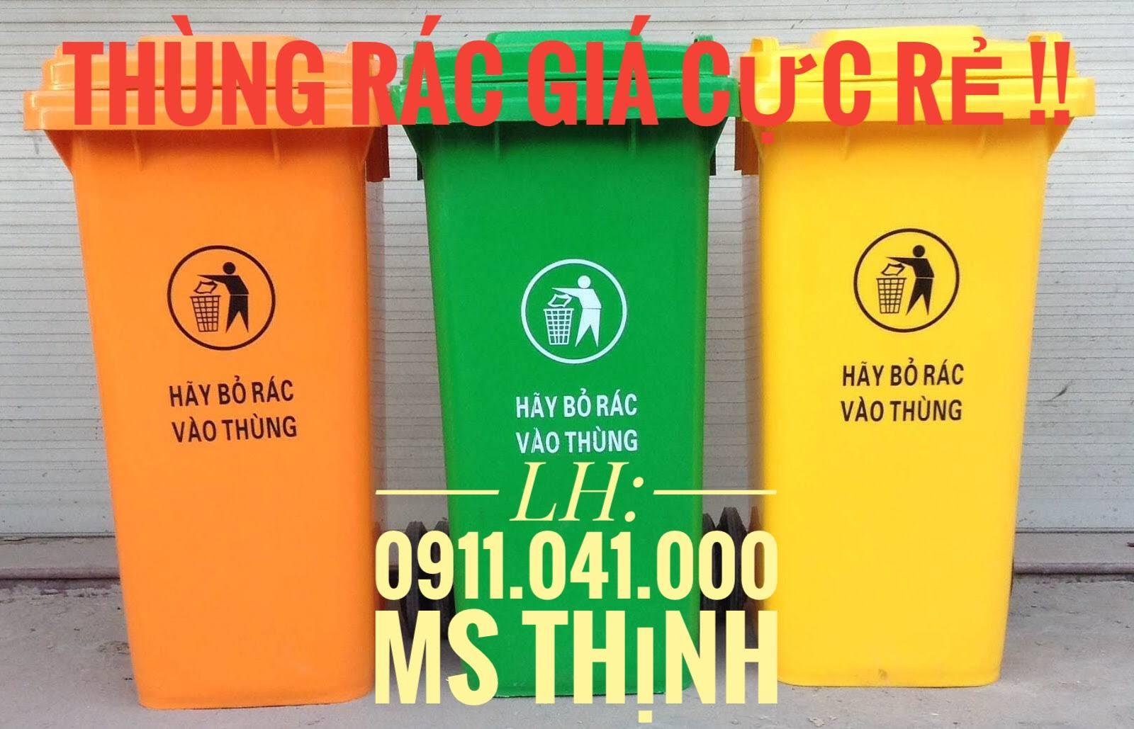 Cung cấp thùng rác nhựa HDPE giá rẻ - 0911041000