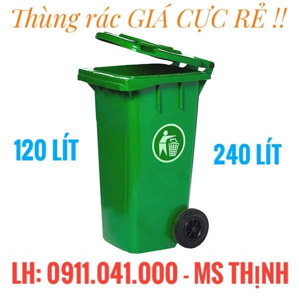Thùng rác 120 lit, 240 lit, 660 lit