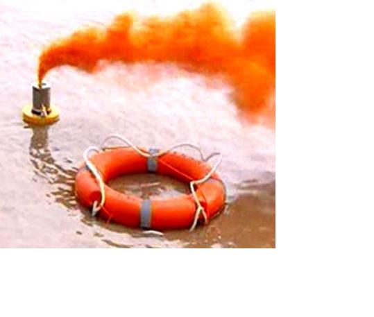 Đèn khói - Màu khói: Màu da cam