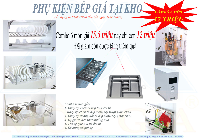 Kho phụ kiện tủ bếp - Combo phụ kiện giá rẻ bất ngờ tại kho