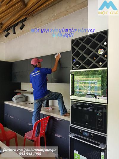Tủ bếp Mộc Gia - lắp đặt công trình tại Madagui - Kho phụ kiện bếp giá rẻ 0939431088