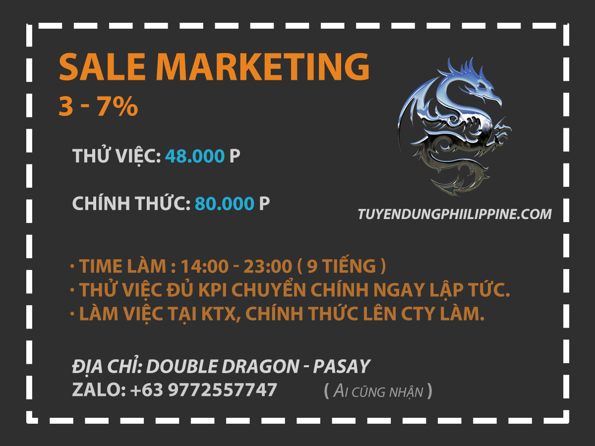 VỊ TRÍ MARKETING
