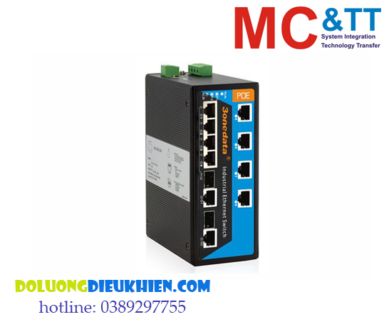 IPS3110-2GC-8POE: Switch công nghiệp 8 cổng PoE Ethernet + 2 cổng Gigabit Combo SFP 3Onedata