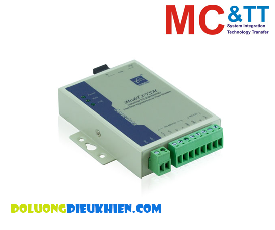 Model277-S-SC-20KM: Bộ chuyển đổi RS-232/422/485 sang quang( 2 sợi quang, Single Mode, SC, 20KM)