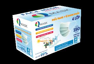 Khẩu trang kháng khuẩn 4 lớp Qmask