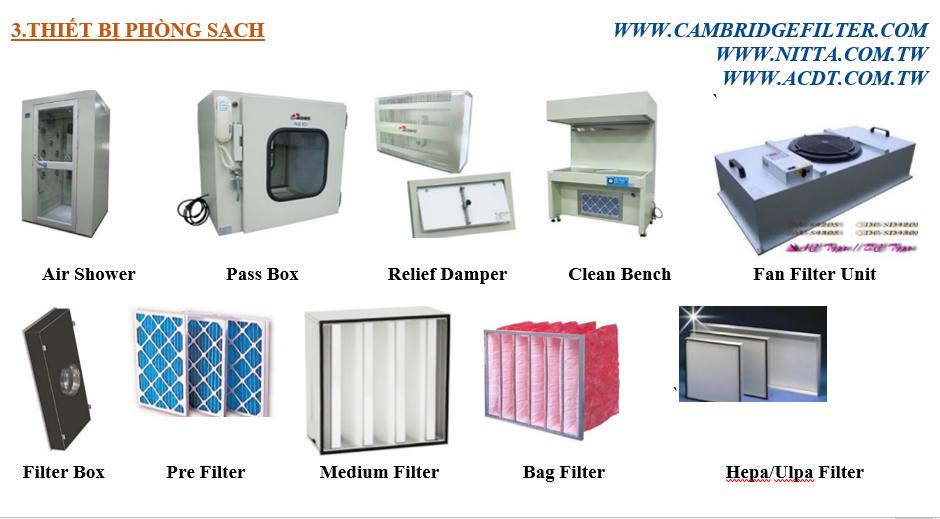 Thiết Bị Phòng Sạch Và Lọc Khí (Air Filter)