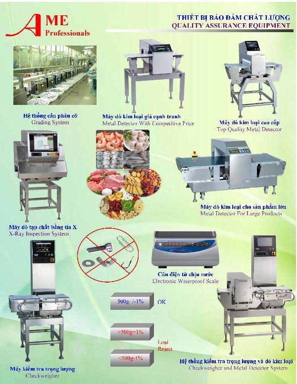 Bán và cho thuê các loại máy dò kim loại, máy bọc màng co, máy đo trọng lượng, máy dò tạp chất