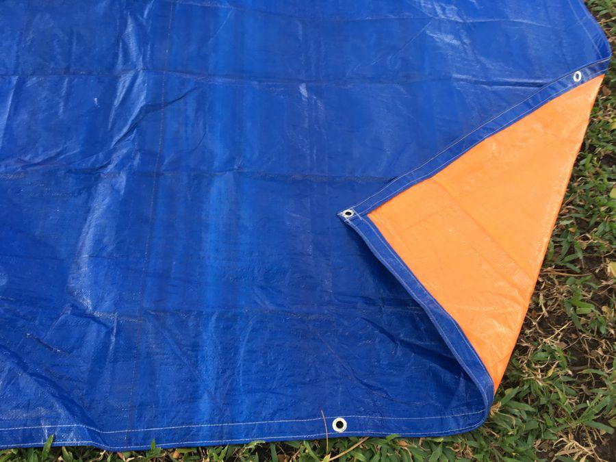 Tấm bạt che nắng mưa may sẵn, che trùm thiết bị, vật liệu