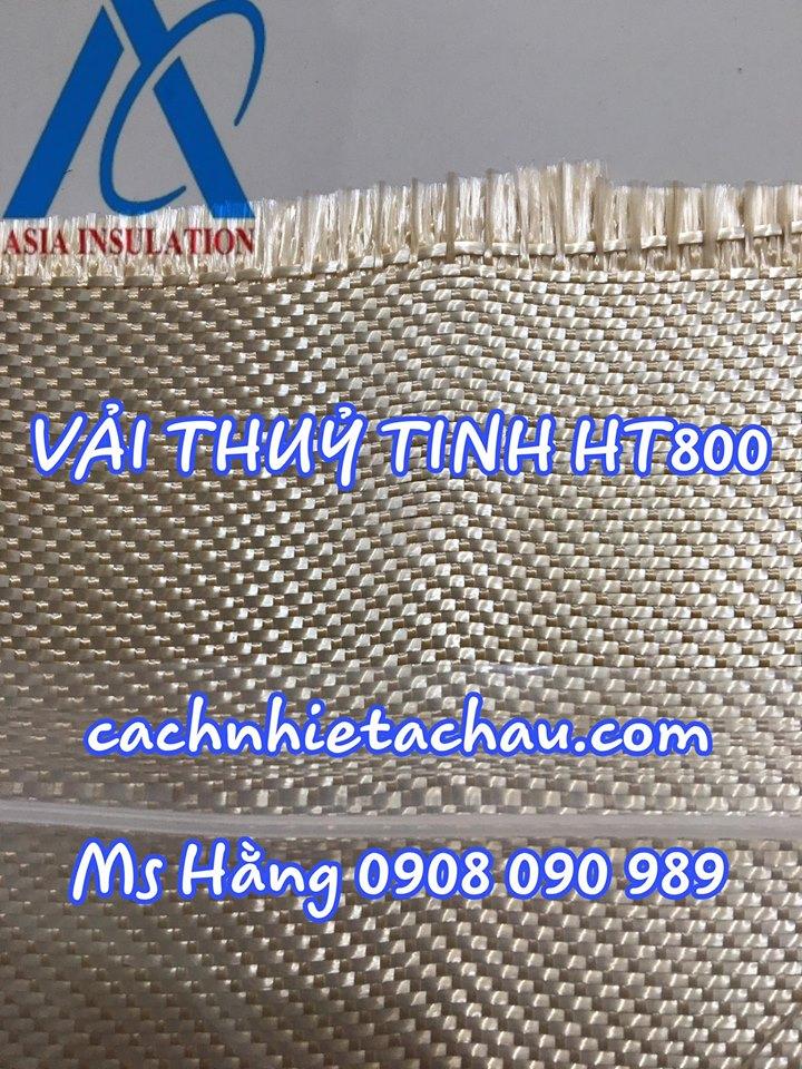 Vải sợi thủy tinh ht800 cách nhiệt chống cháy nhiệt độ lên đến 550 độ c