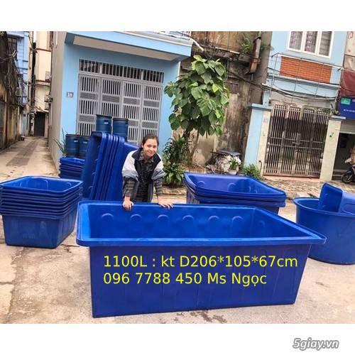 Thùng nhựa 1100 lít nuôi cá cảnh giá rẻ