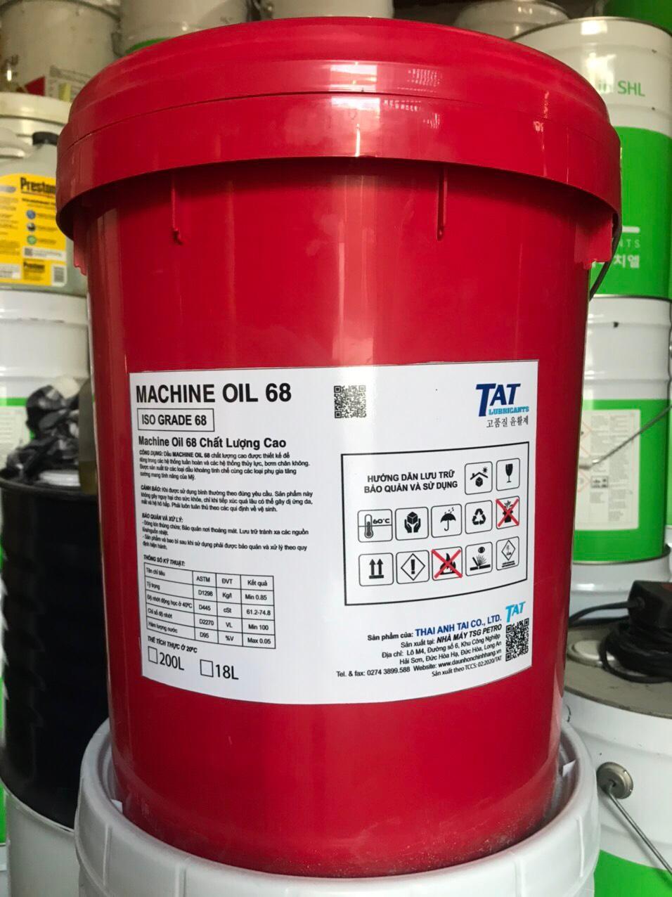 Dầu rãnh trượt TAT MACHINE OIL 68M