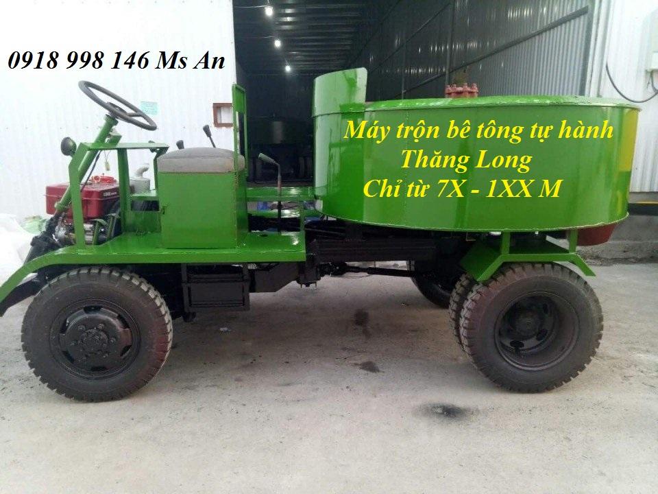 Máy trộn bê tông tự hành 9 bao 2 cầu động cơ ô tô 3.5 tấn