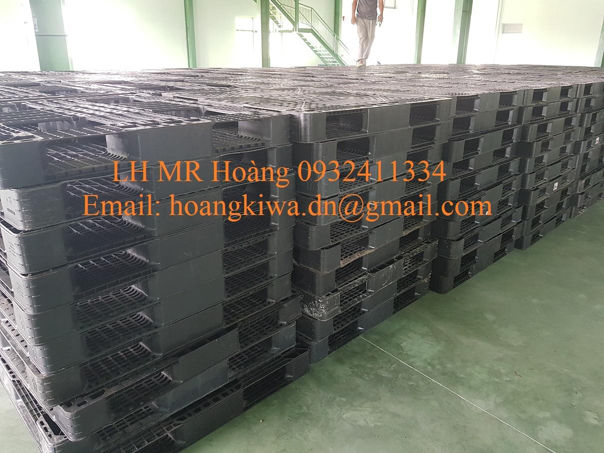Pallet nhựa 1000 x 600, Pallet nhựa mới, pallet cũ giá rẻ tại Đà Nẵng