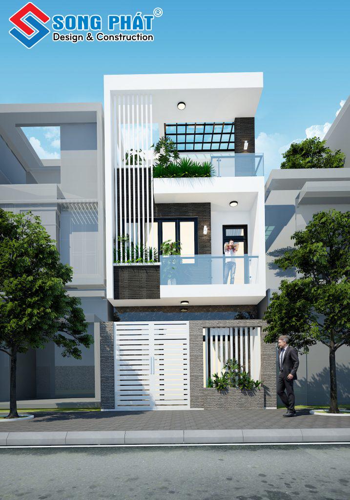 Mẫu nhà 2 tầng đẹp 5x11 sang trọng với nội thất