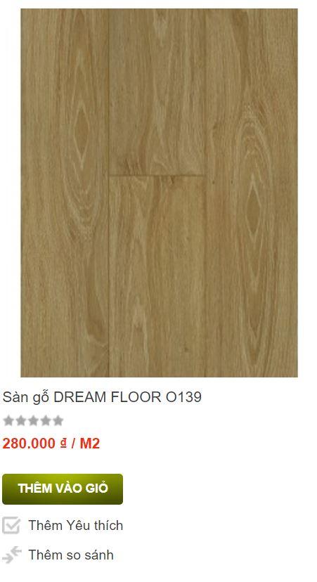 Sàn gỗ Dream Floor O139 nhập khẩu Malaysia
