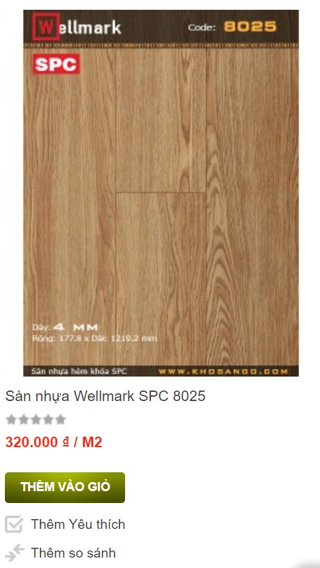 Sàn nhựa Wellmark SPC 8025