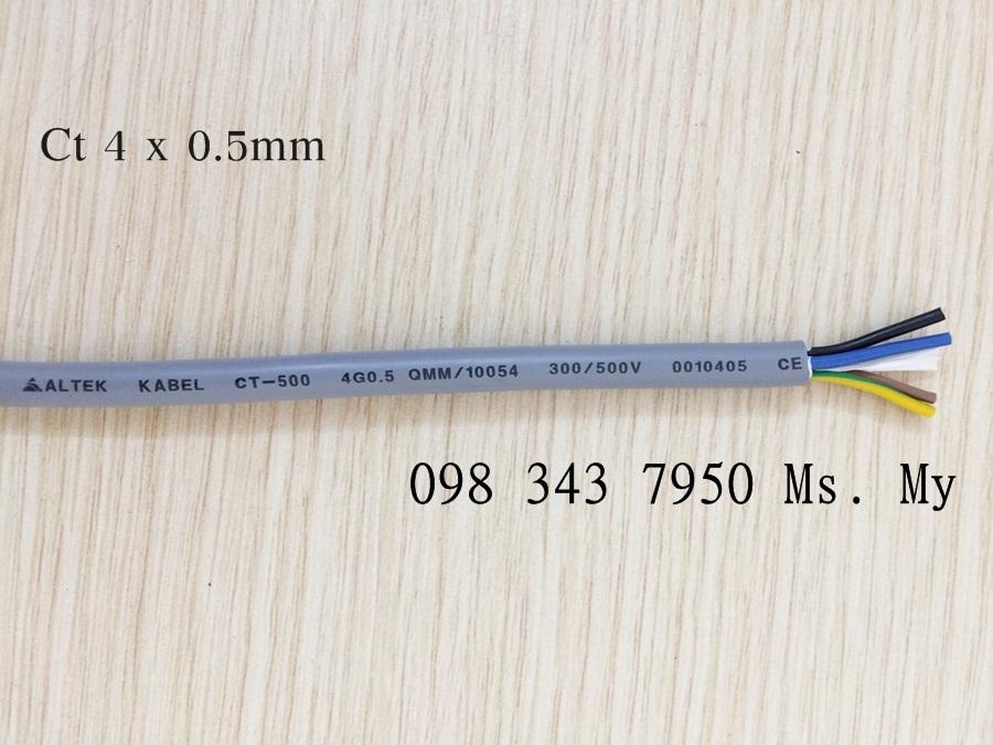 Cáp điều khiển 4x0.5mm Altek Kabel chống nhiễu