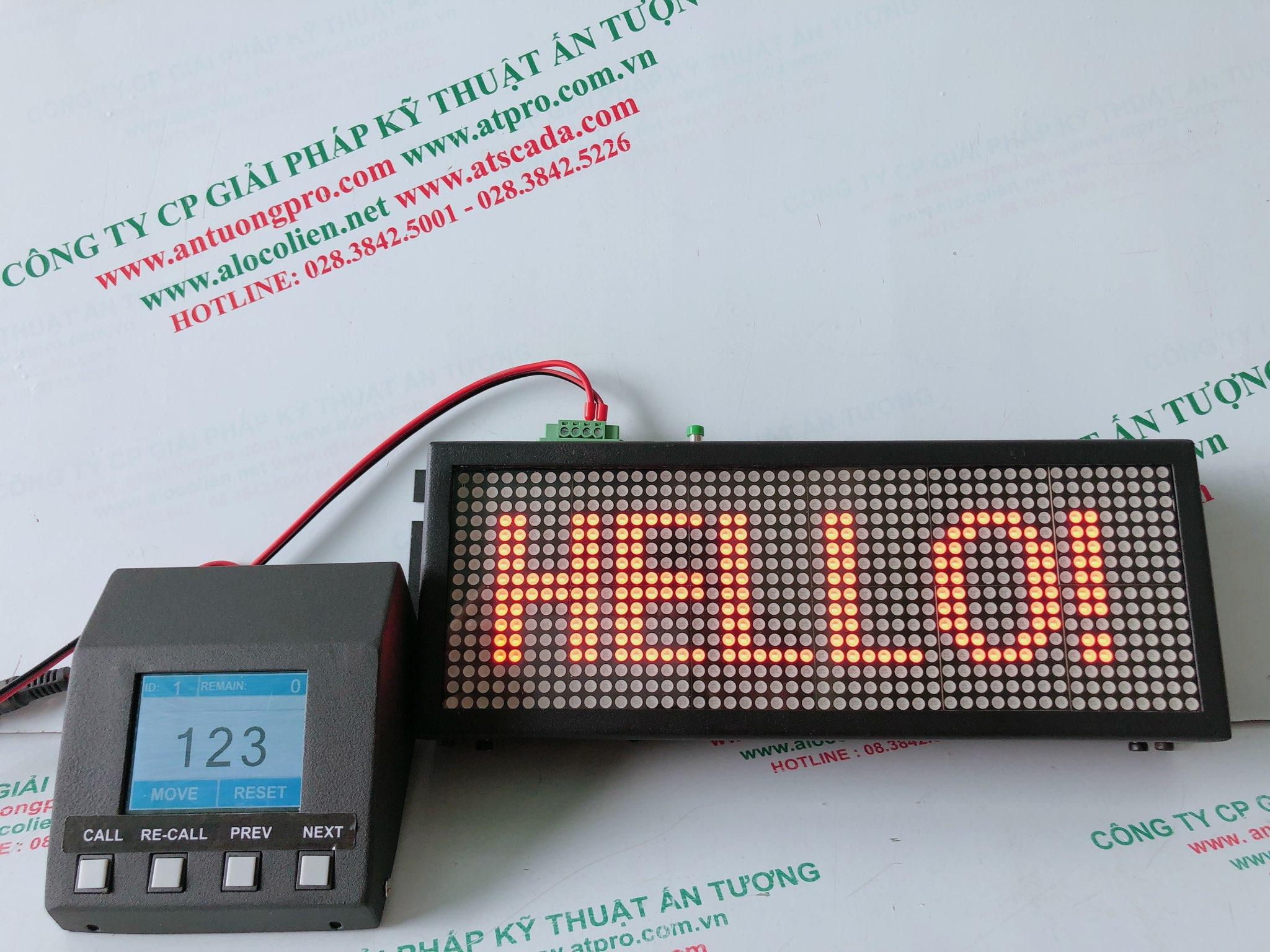 Bộ gọi số thứ tự led matrix của thương hiệu iCall