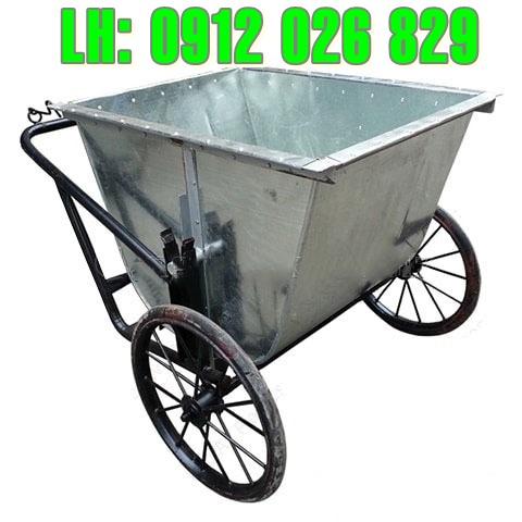 Bán xe đẩy rác 3 bánh tôn mạ kẽm giá rẻ, chất lượng hoàn hảo