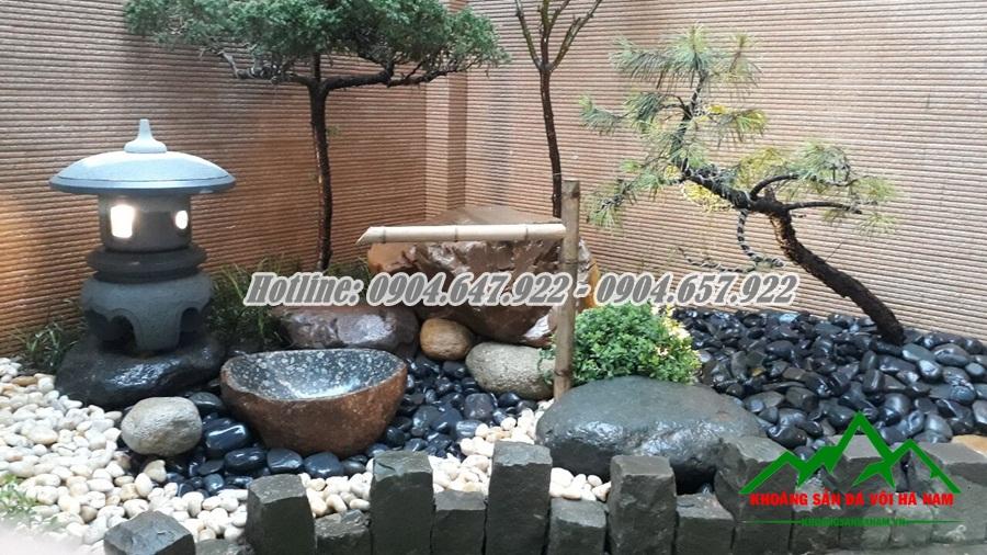 Bán Đá cuội đen trang trí sân vườn giá rẻ nhất