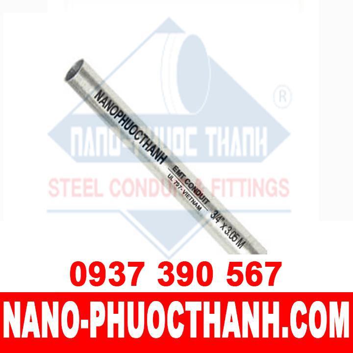 Ống thép luồn dây điện trơn EMT size 1/2 - NANO PHƯỚC THÀNH