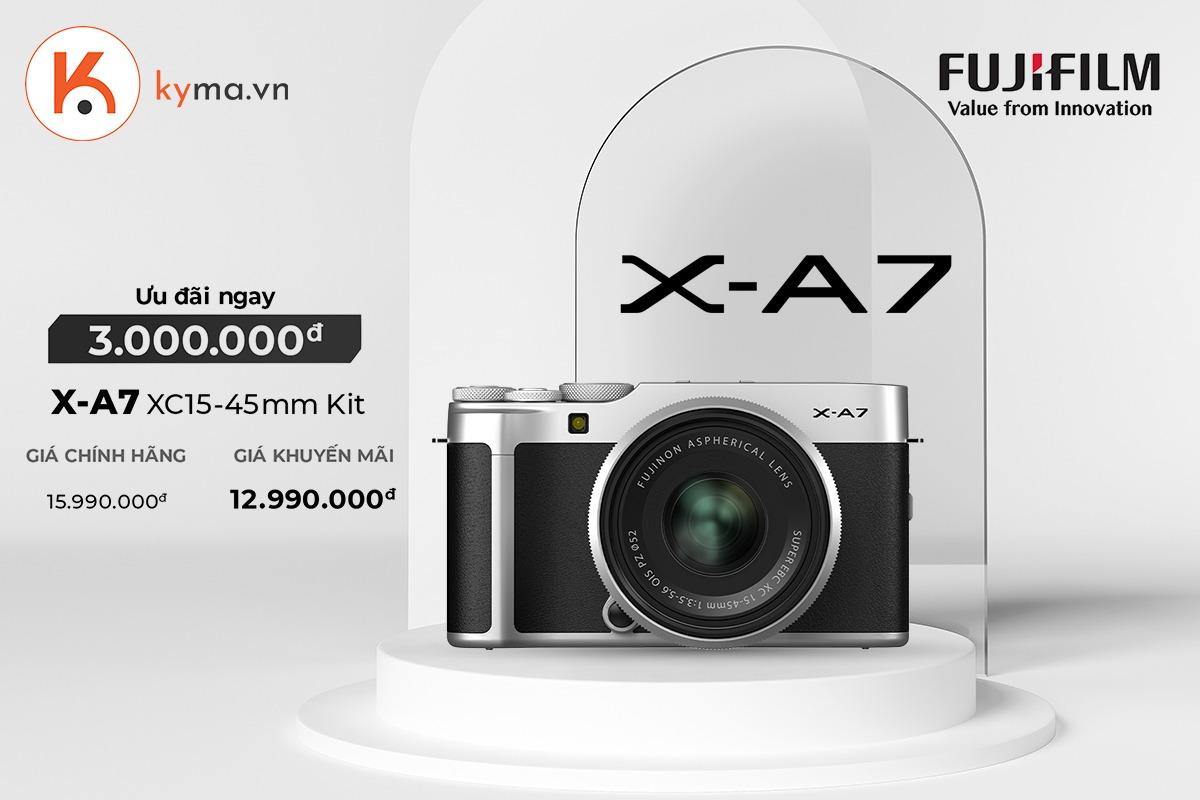 Kyam mạnh tay giảm giá máy ảnh Fujifilm X-A7 đến 3 triệu