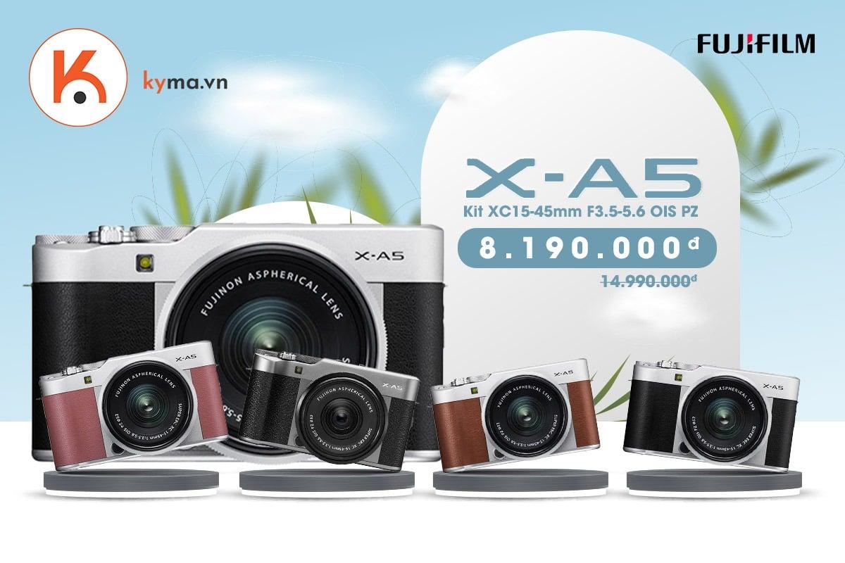Kyma giảm đến 45% khi mua máy ảnh Fujifilm X-A5 Kit XC15-45mm
