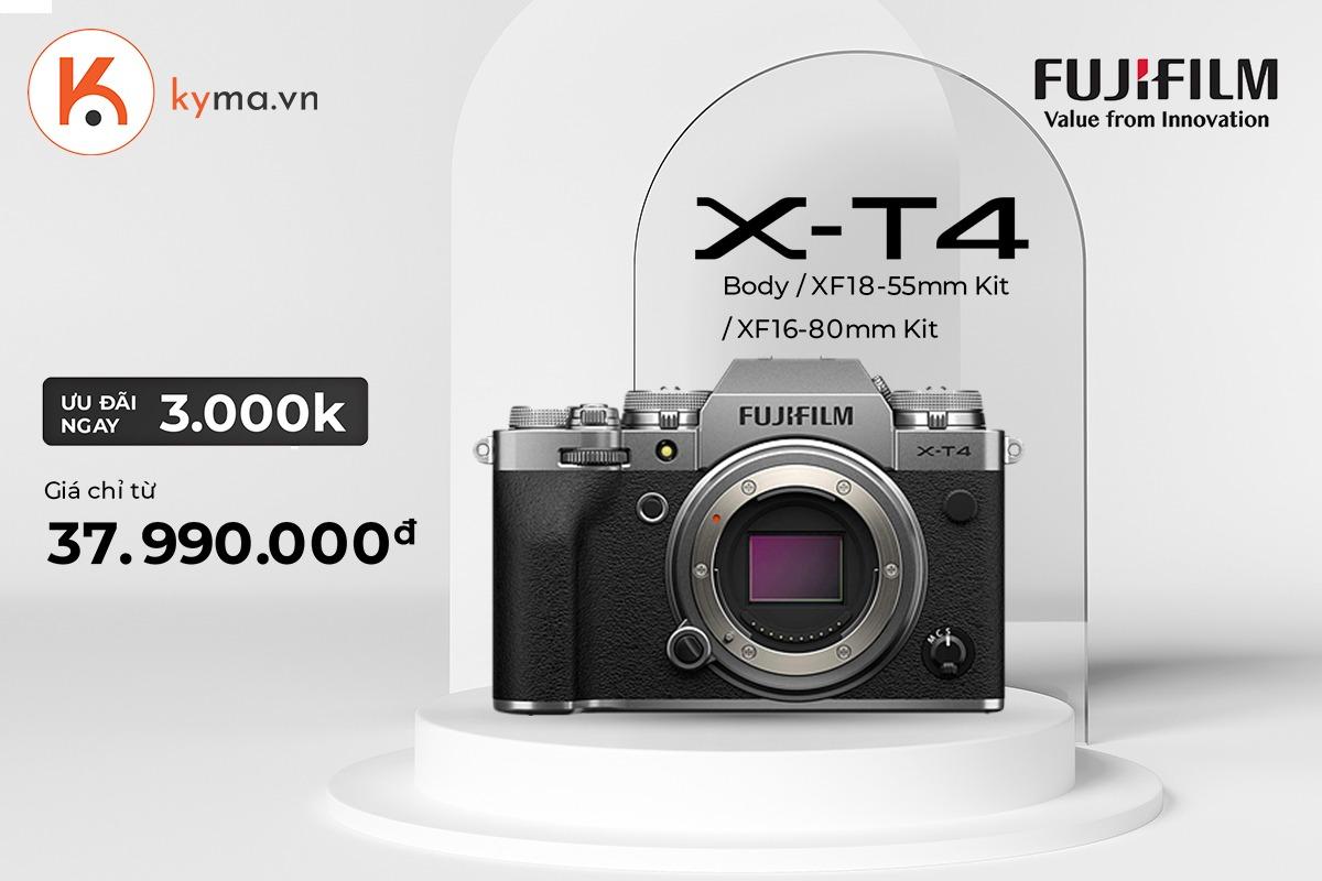 máy ảnh Fujifilm X-T4 sale sập sàn giá rẻ siêu hời chỉ còn từ 37.990.000