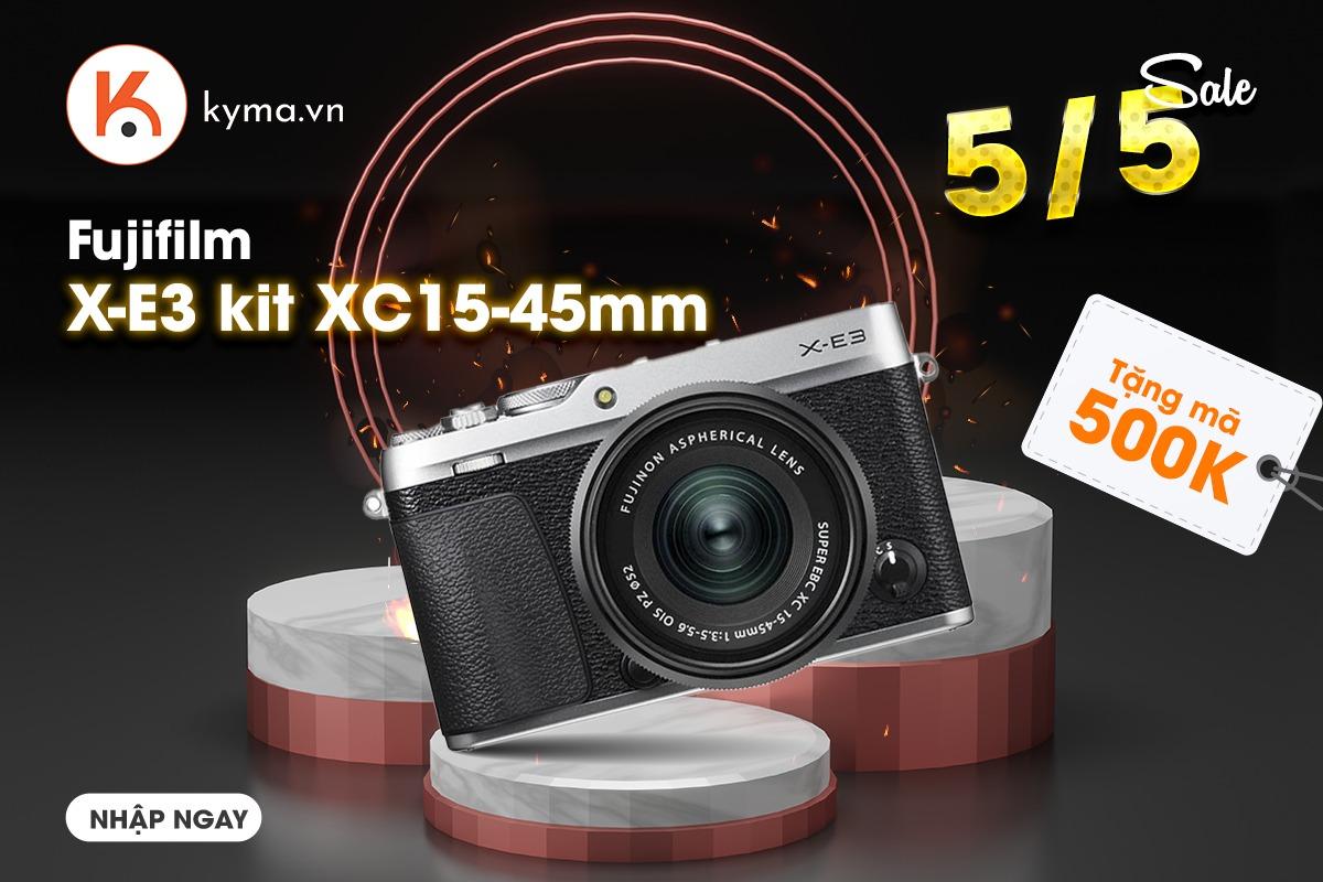 Săn mã giảm giá tại Kyma khi mua máy Ảnh Fujifilm X-E3