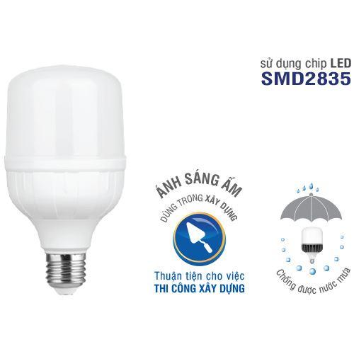 Bóng đèn LED Bulb trụ nhôm chống nước mưa ELB7036