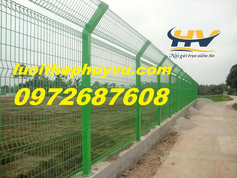 Hàng rào mạ kẽm, lưới thép mạ kẽm, lưới hàng rào sơn tĩnh điện
