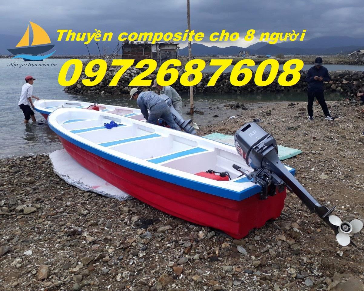 Thuyền câu cá, thuyền du lịch, thuyền composote chèo tay có thể gắn máy