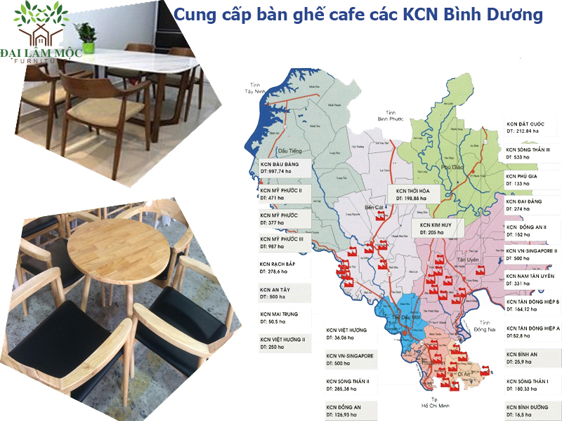 Bàn ghế cafe tại các khu công nghiệp trên địa bàn tỉnh Bình Dương