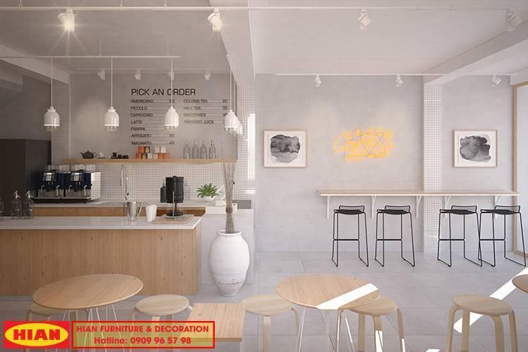 Hỗ trợ ưu đãi thiết kế quán cafe- trà sữa mùa dịch covid trong tháng 10