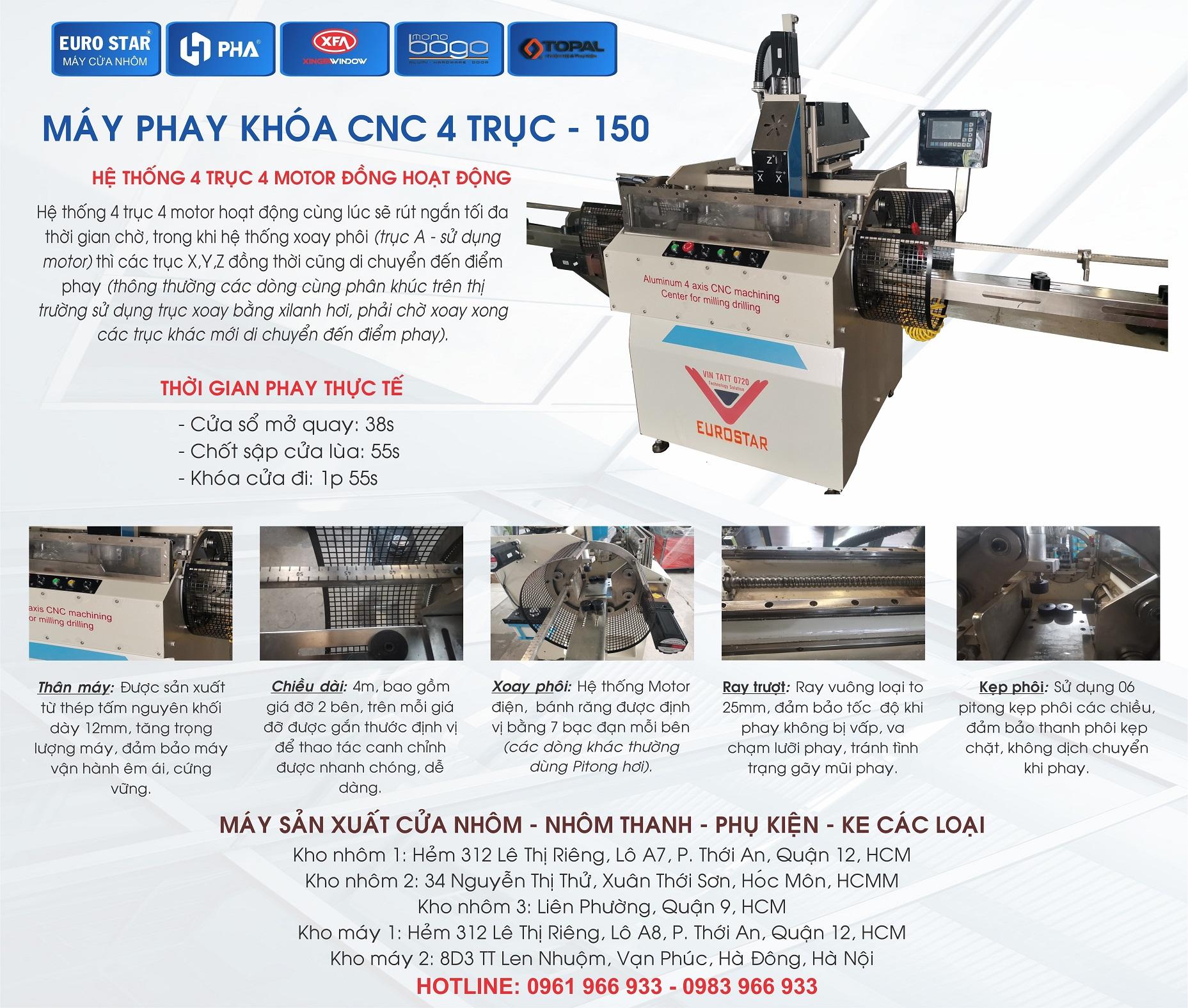 Máy Phay Khóa CNC