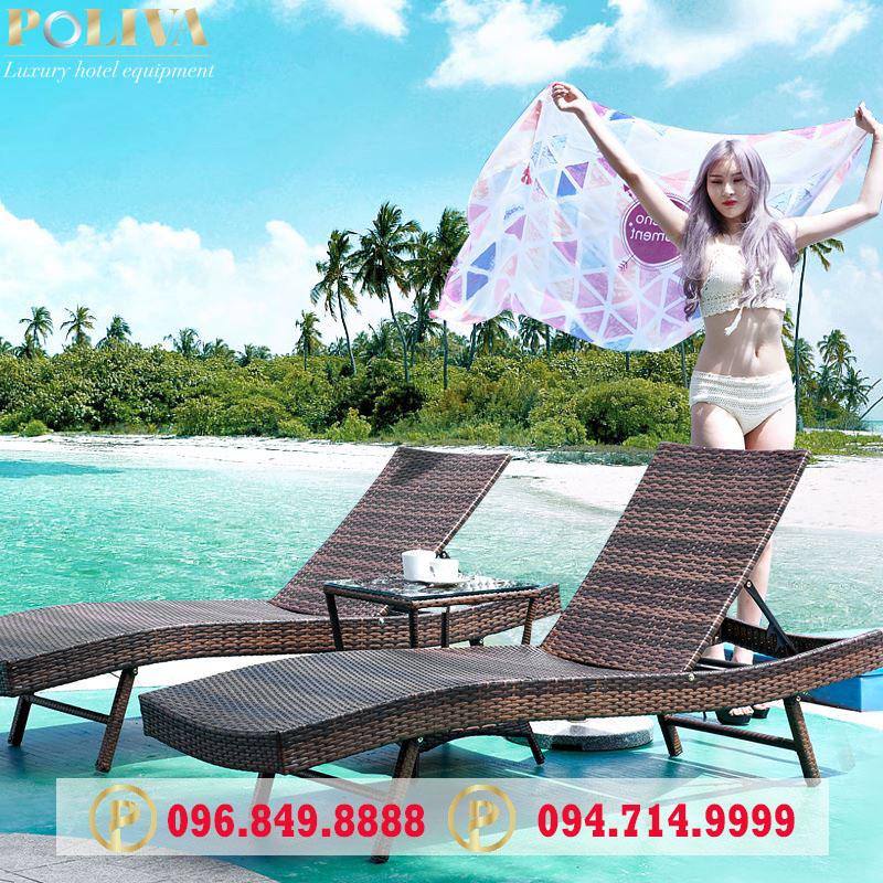 Ghế hồ bơi Poliva giá rẻ