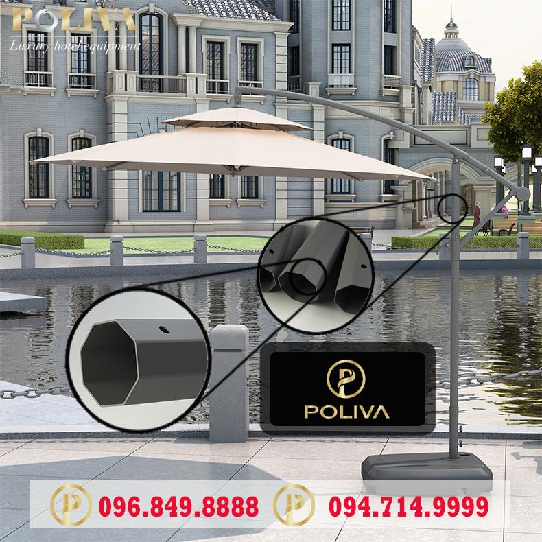 Ô dù lệch tâm chính hãng Poliva