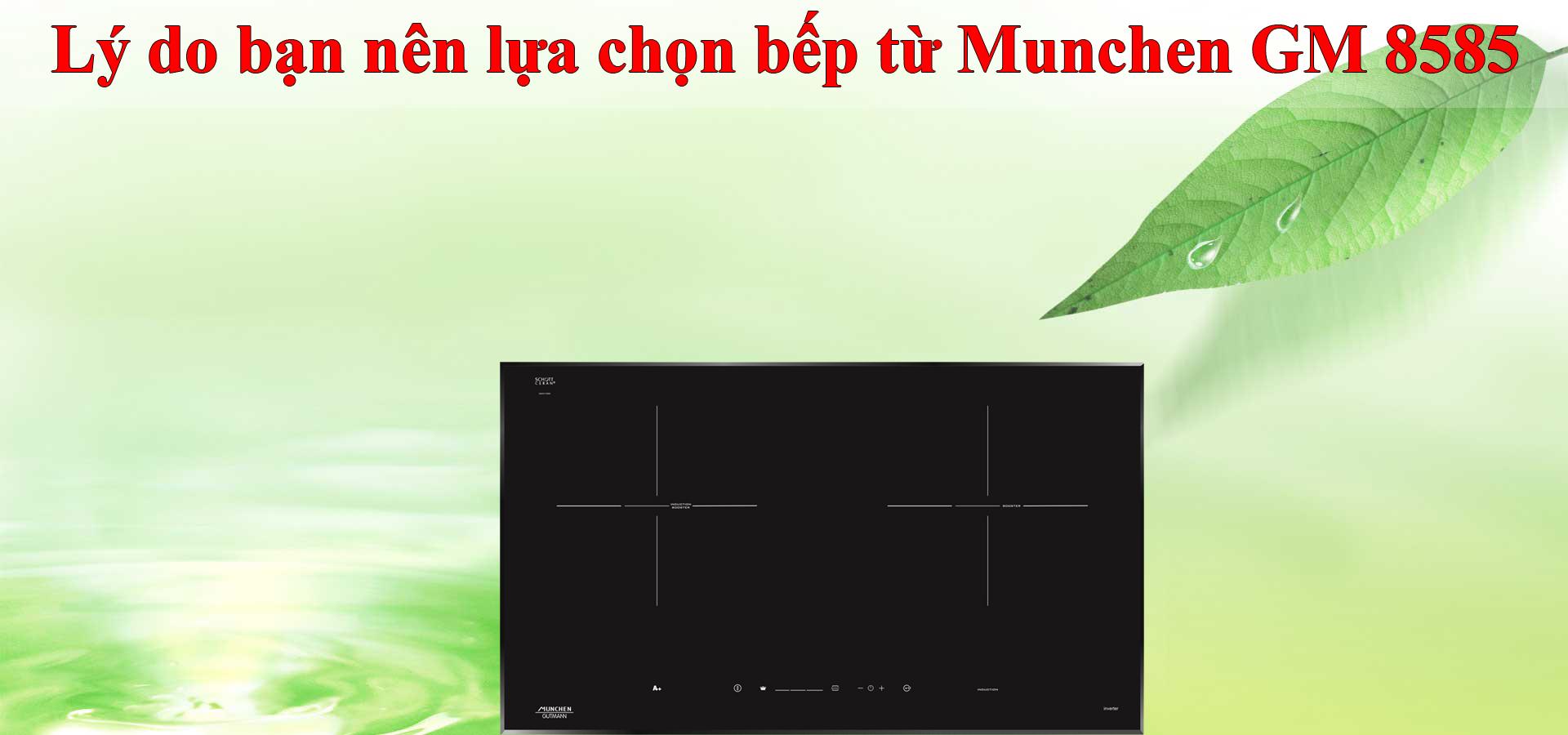 Lý do bạn nên lựa chọn bếp từ Munchen GM 8585