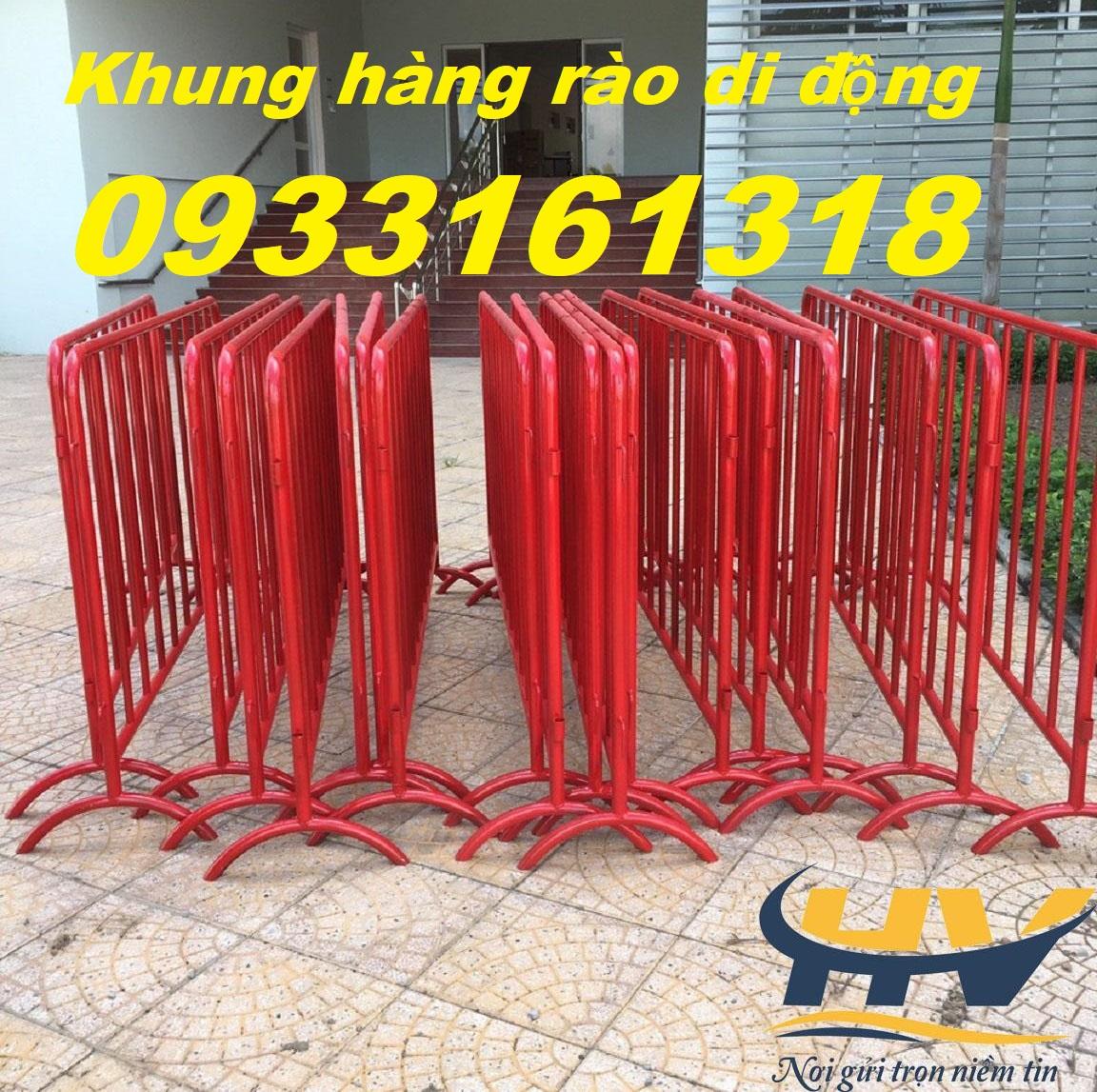 Hàng rào chắn tạm thời, hàng rào barie, hàng rào di động giá rẻ tại Đồng Nai
