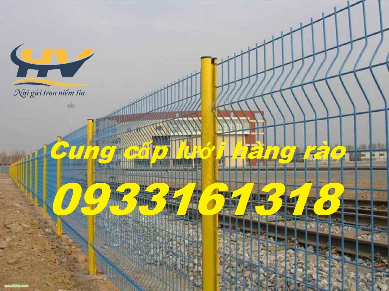 Hàng rào lưới thép, lưới thép hàng rào bảo vệ, hàng rào mạ kẽm