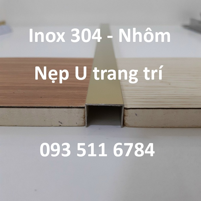 Nẹp T V U Inox cao cấp Nẹp nhôm sàn nhựa 4mm Nẹp Đà Nẵng