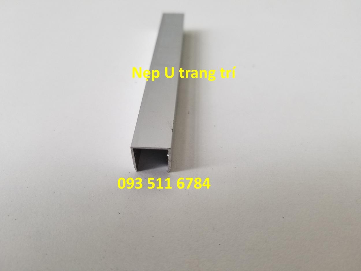 Nẹp U chỉ tường Inox - Nẹp nhôm giá kho