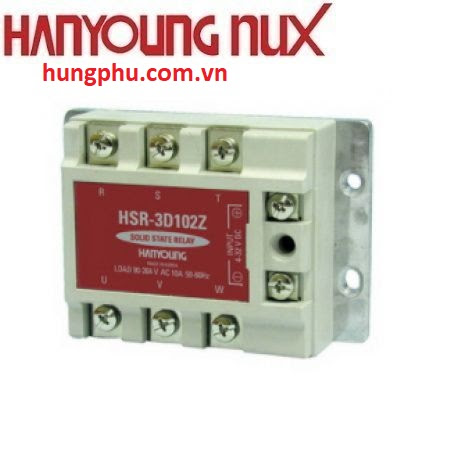 SSR Hanyoung 3 Pha 10A HSR-3A102Z,SSR Hanyoung,thiết bị đóng cắt hanyoung