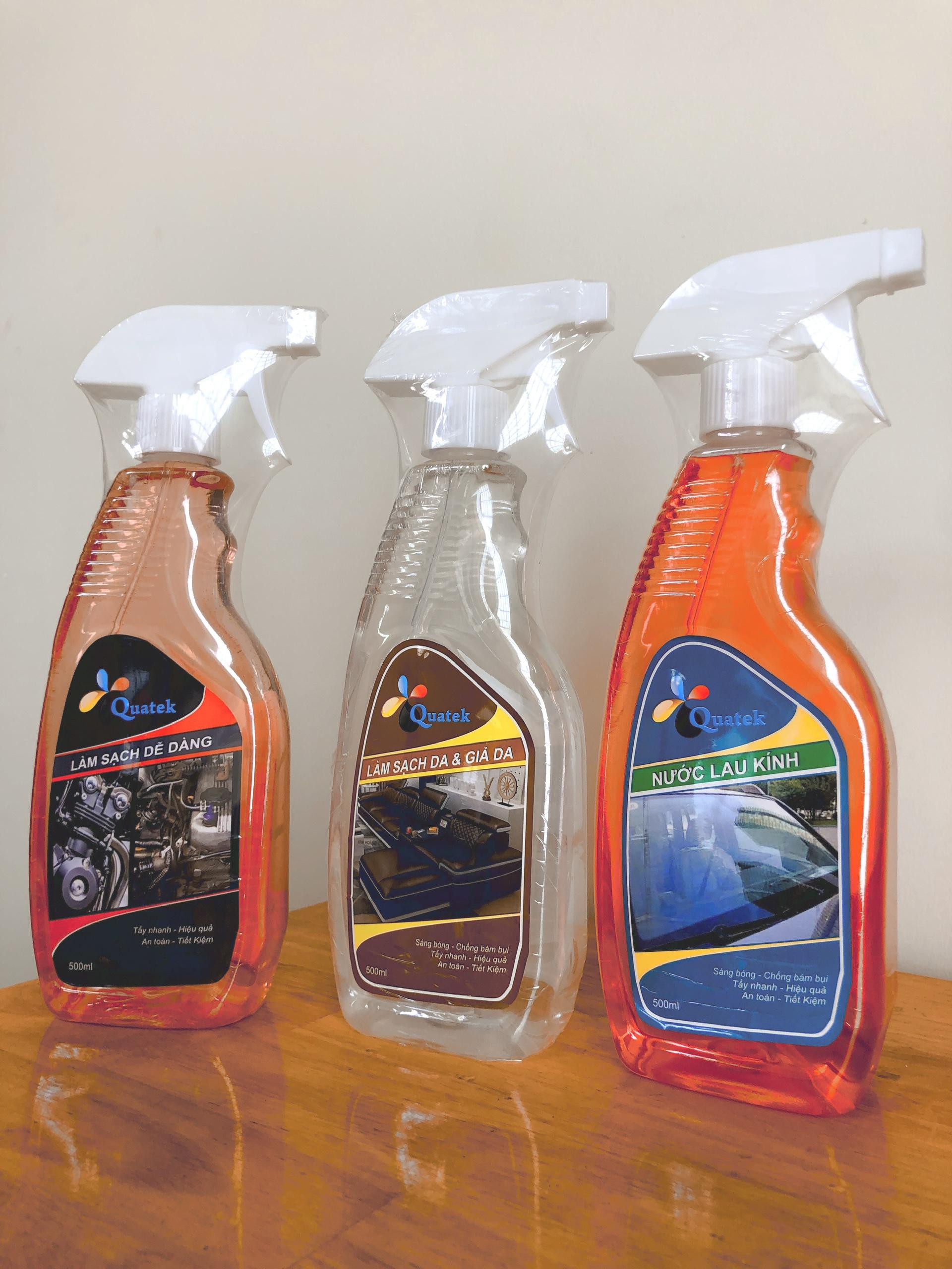 Quatek – Quang Thuật.,Ltd cung cấp thiết bị, dụng cụ bình xịt tẩy rửa bề mặt kính, thủy tinh, chai xịt làm sạch da