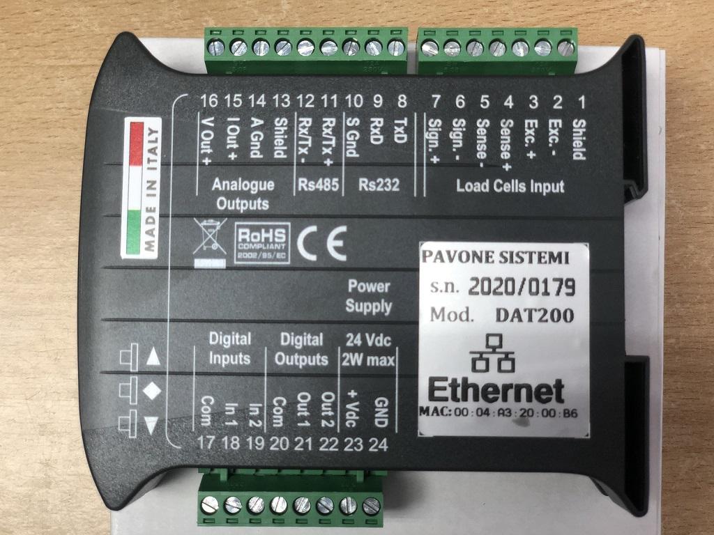 Đầu cân điện tử DAT200 Etherner sản xuất tại Pavone (ITALY) , cung cấp đầy đủ CO CQ...