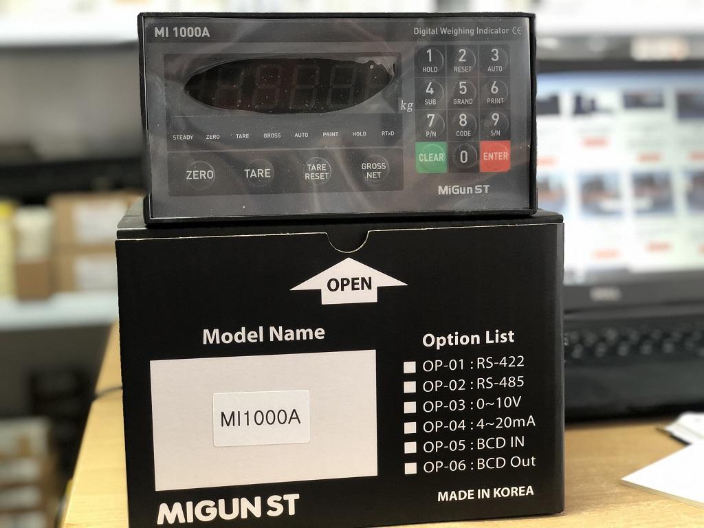 Đồng hồ cân MI1000A sản xuất tại Migun - Hàn Quốc, có đầy đủ chứng nhận CO CQ...