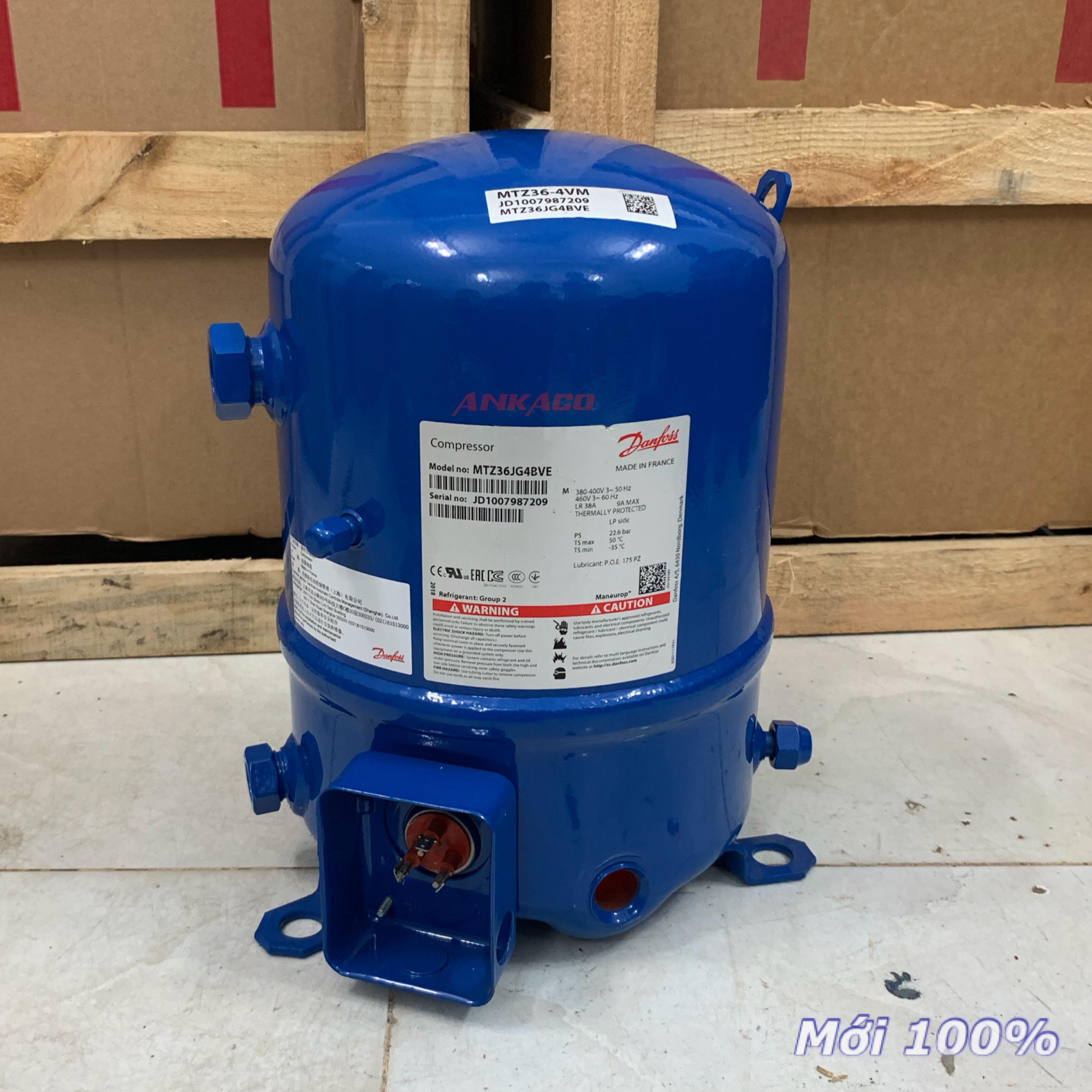 Phân phối block lạnh Danfoss piston 3 hp MTZ36JG4BVE giá tốt. LH 0912214283