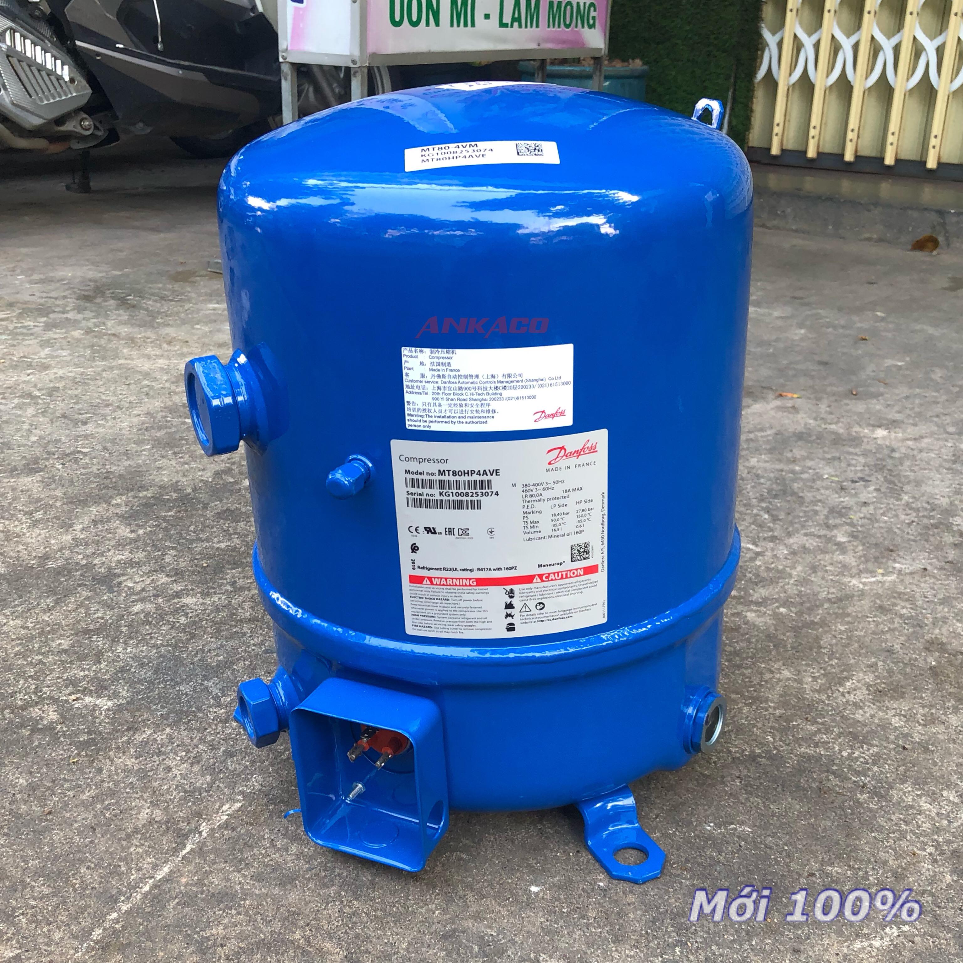 Nơi uy tín cung cấp máy nén lạnh  Danfoss 7 hp MT80HP4AVE hàng mới 100%, giao hàng nhanh