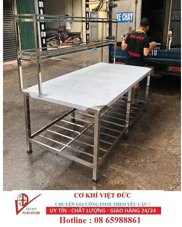Bàn bếp inox công nghiệp Hải Minh