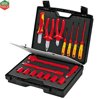 Bộ dụng cụ cách điện VDE 1000V Compact Tool Case Knipex 17 chi tiết